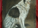 Oil portrait painting of a large breed dog named Czar Ivan by Lee Mims.