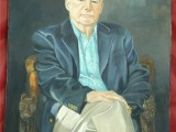 Oil portrait of an older gentleman painted by Lee Mims