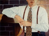 Oil portrait of a man in business attire by Lee Mims