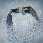 In the Fog and Rain painting by Lee Mims
